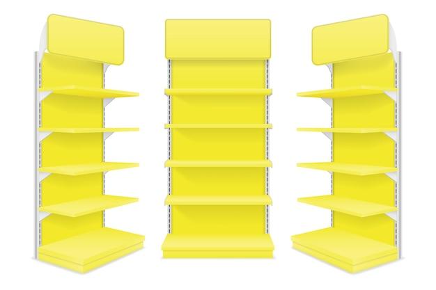 Shop shelves illustration isolated on white background
