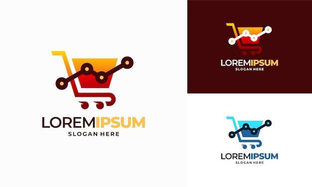 Дизайн шаблона логотипа shop stat, вектор концепции дизайна логотипа отчета о продажах