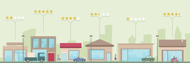 Shop store and business ratings and reviews