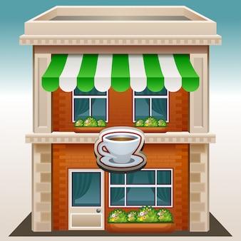 ショップ店またはカフェ