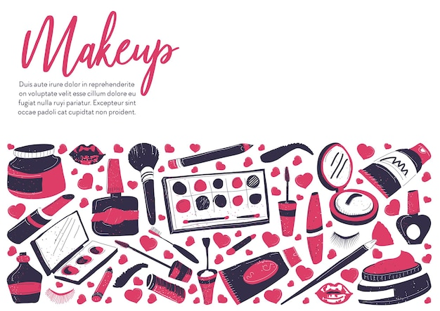 Shop or store with cosmetic products for ladies