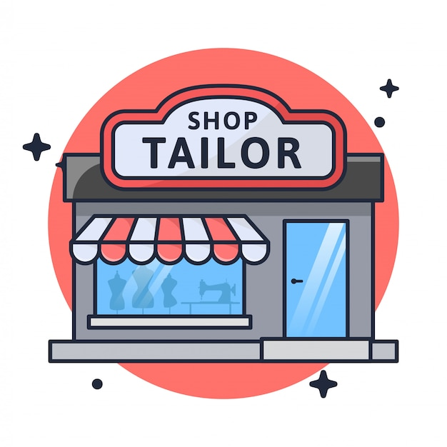 Shop tailor store illustration