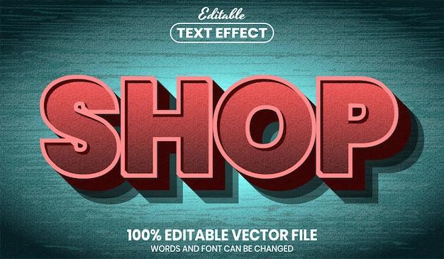 Текст магазина, редактируемый текстовый эффект стиля шрифта