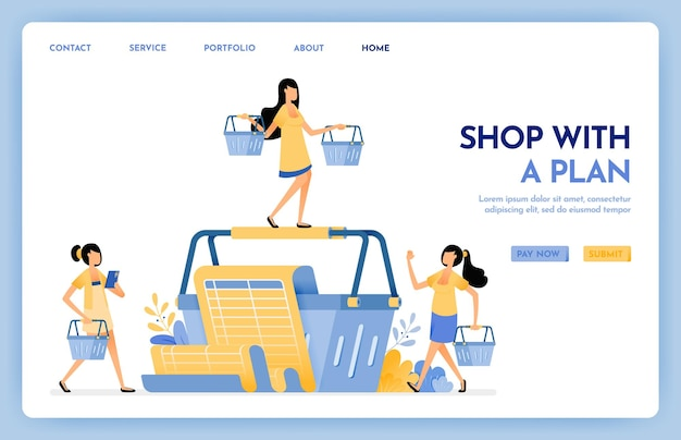 Shop with a plan landing page