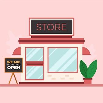 Магазин со знаком мы открыты