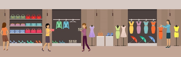 Shop women's clothing and shoes.