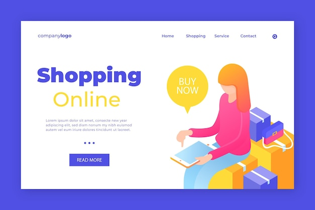 Shop your favourite products landing page
