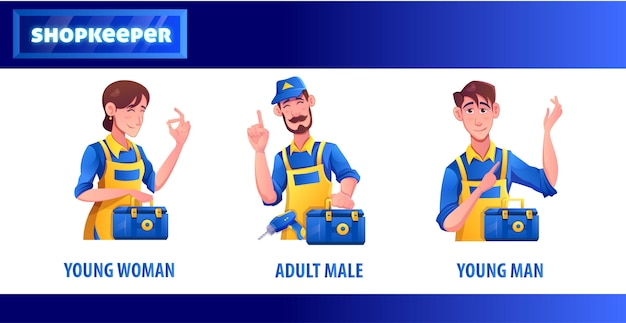 Shopkeeper tools store персонаж