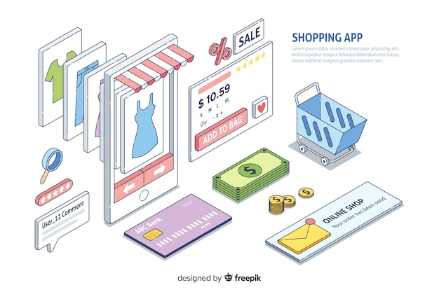Shopping app infographic