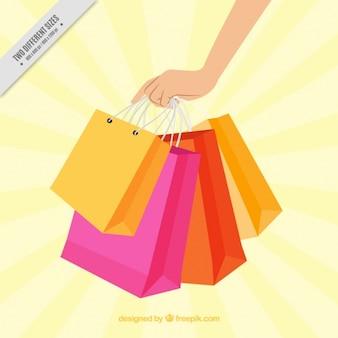 Shopping bag background