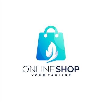 Shopping bag gradient logo design