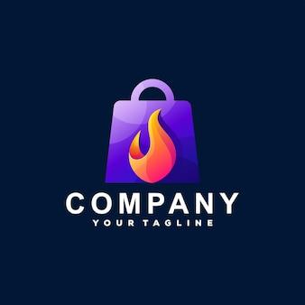 Сумка для покупок с градиентным логотипом