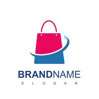 Shopping bag for online shop logo