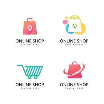 Логотип магазина сумки. дизайн логотипа интернет-магазина