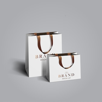 Shopping bag  . white blank paper bags. shopping product package for corporate brand template.