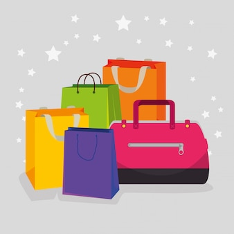Shopping bags and handbags to special sale