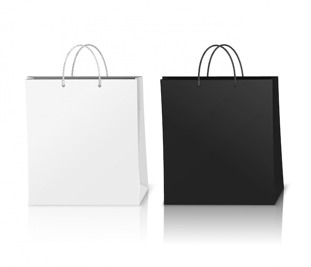 Shopping bags mockup realistic