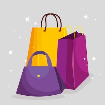 Shopping bags with handbags to sale price