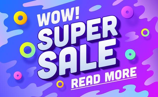 ショッピングバナーテンプレート販売と割引イラストプロモーションテンプレート