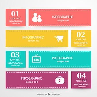 Инфографики векторный набор этикетки