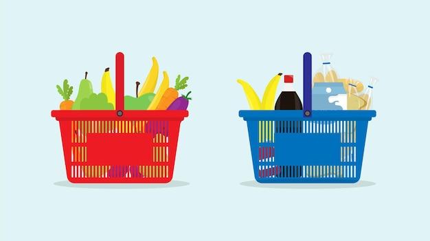 장바구니 장바구니 슈퍼마켓 식료품