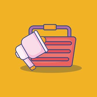 Значок корзины покупок