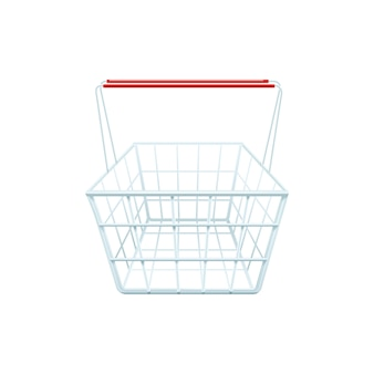 Shopping basket for shopping in a store mall or supermarket realistic