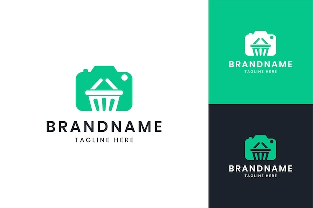 Дизайн логотипа негативного пространства для покупок