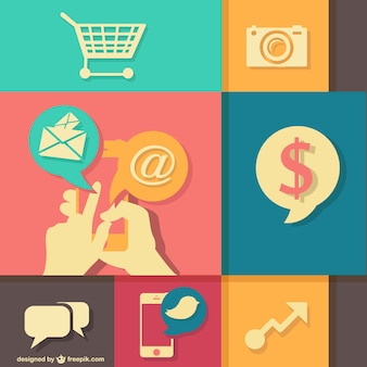 Shopping cart and web design elements