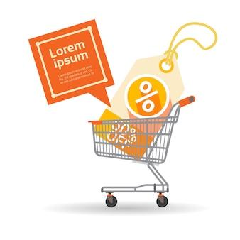 Shopping cart big sale banner