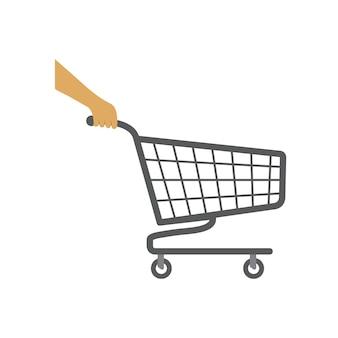 Shopping cart icon illustration design template