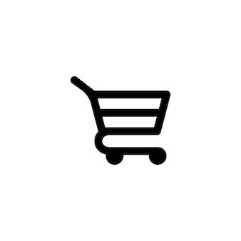 블랙에 쇼핑 카트 아이콘입니다. 바구니. 격리 된 흰색 배경에 벡터입니다. eps 10.