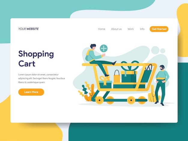 Shopping cart for website page