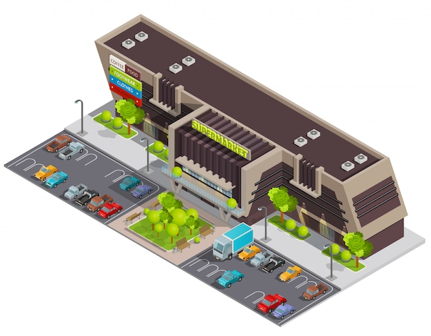 Shopping center mall complex