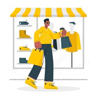 쇼핑 컨셉 일러스트