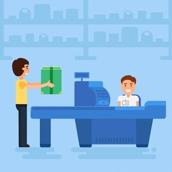 Shopping concept illustration