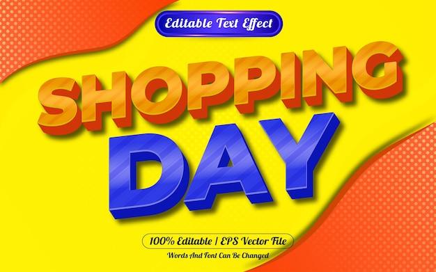 쇼핑 하루 3d 편집 가능한 텍스트 효과 추상적 인 배경
