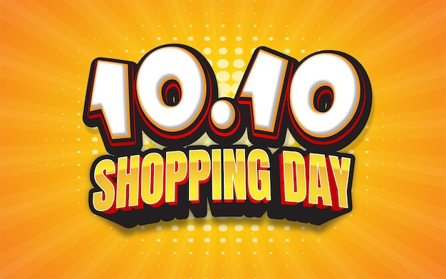 Shopping day banner cartoon style background