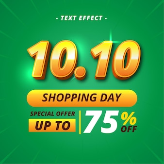 Shopping day banner text effect