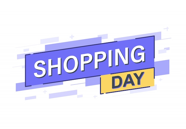 Shopping day banner