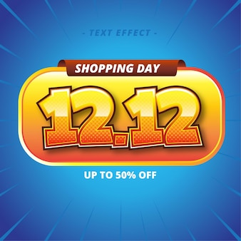 Shopping day text style effect
