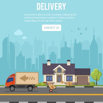 Shopping and delivery concept