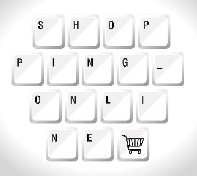 Shopping design, vector illustration.