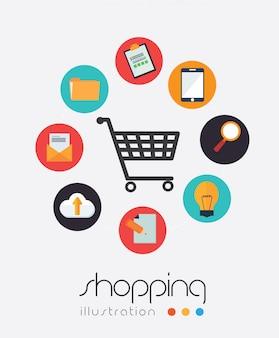 ショッピングデザインのベクトル図
