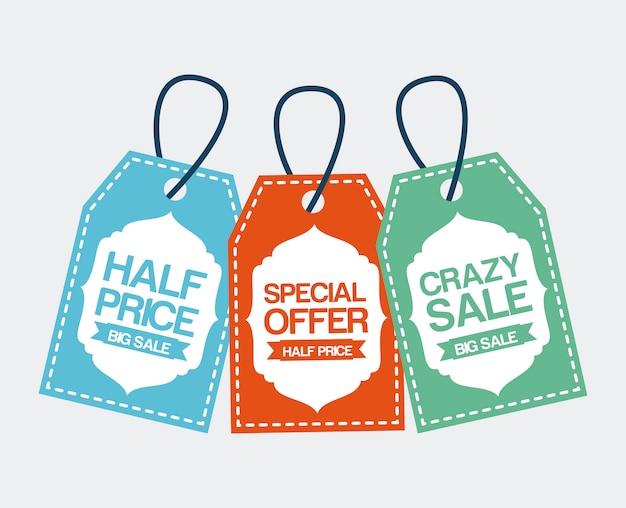 Shopping design over white  background vector illustration