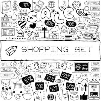 Shopping doodle set