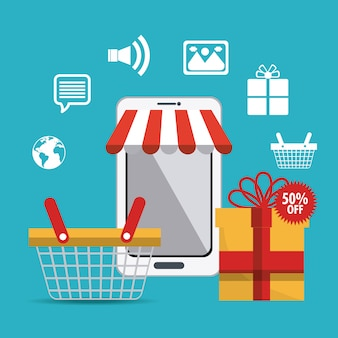 Shopping, ecommerce and marketing