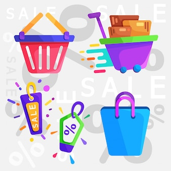 Shopping flat icon