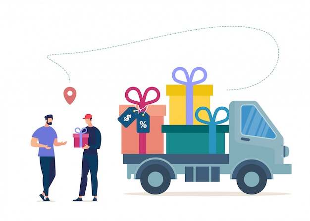 Shopping goods on sale, company regular customers
