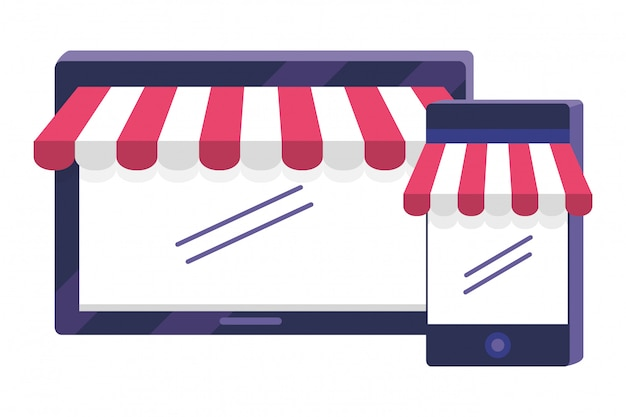 Shopping icon set illustration